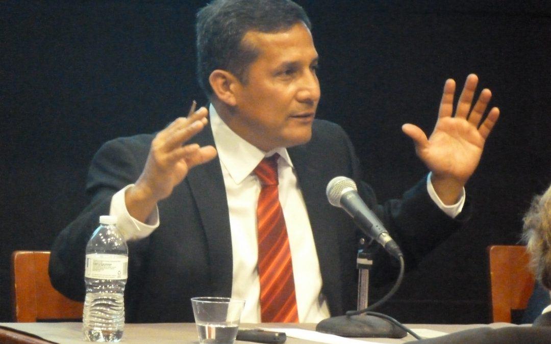 Ollanta Humala habló sobre el futuro de Perú en la New School