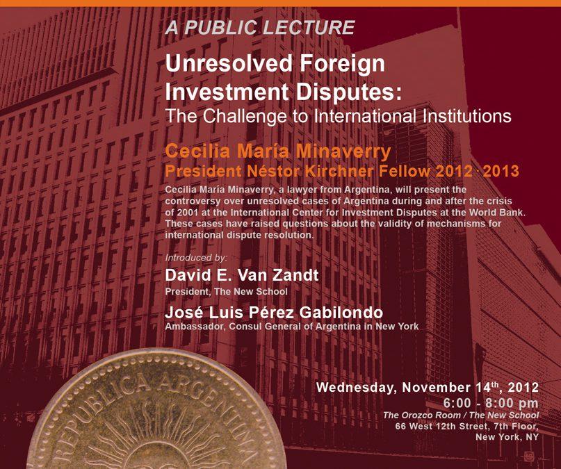 Public Lecture by Cecilia Minaverry, PNK Fellow 2012-2013
