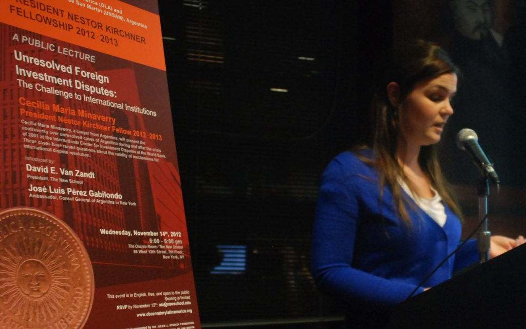 What is it like to be a Néstor Kirchner Fellow? by María Cecilia Minaverry