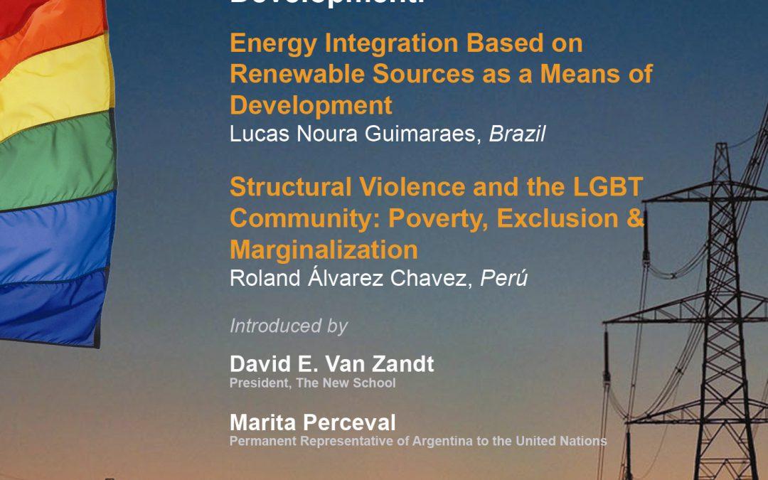 Public Lecture by Lucas Noura Guimaraes and Roland Álvarez Chávez, 2012-2013 PNK Fellows