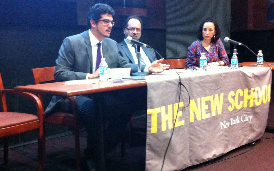Becarios Presidente Néstor Kirchner 2013-2014, brindan conferencia pública en The New School