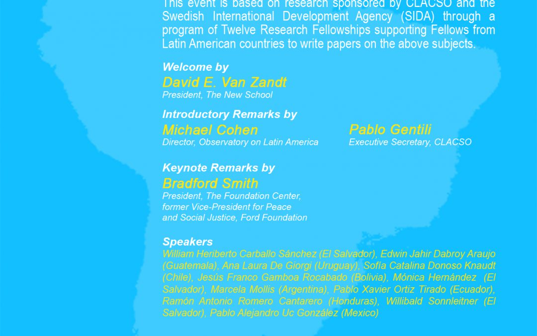 Thirty Years of Democracy in Latin America, CLACSO-OLA Seminar