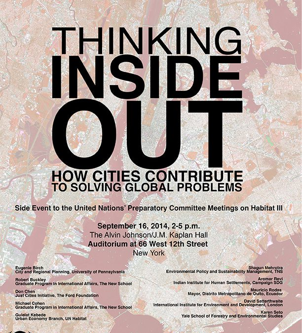 Thinking Inside Out: How Cities Contribute to Solving Global Problems