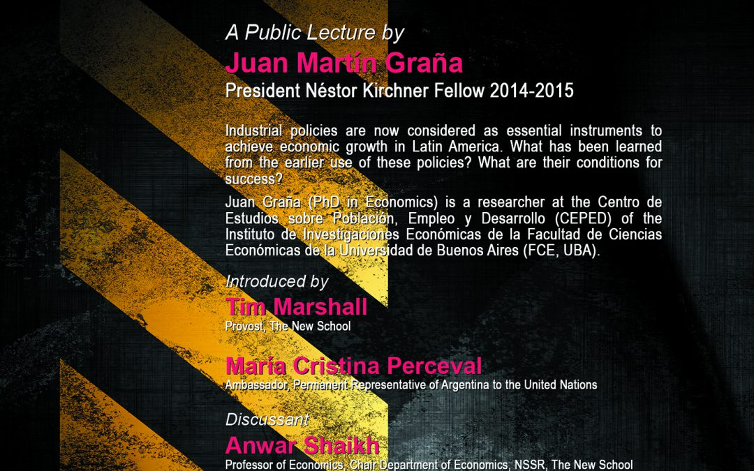 Public Lecture by Juan Martín Graña, PNK Fellow 2014-2015