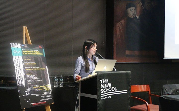 Analía Calero, 2015-2016 President Néstor Kirchner Fellow, successfully completed her two week stay in New York