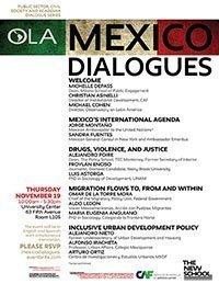 Mexico Dialogues: Public Sector, Civil Society, and Academia Series