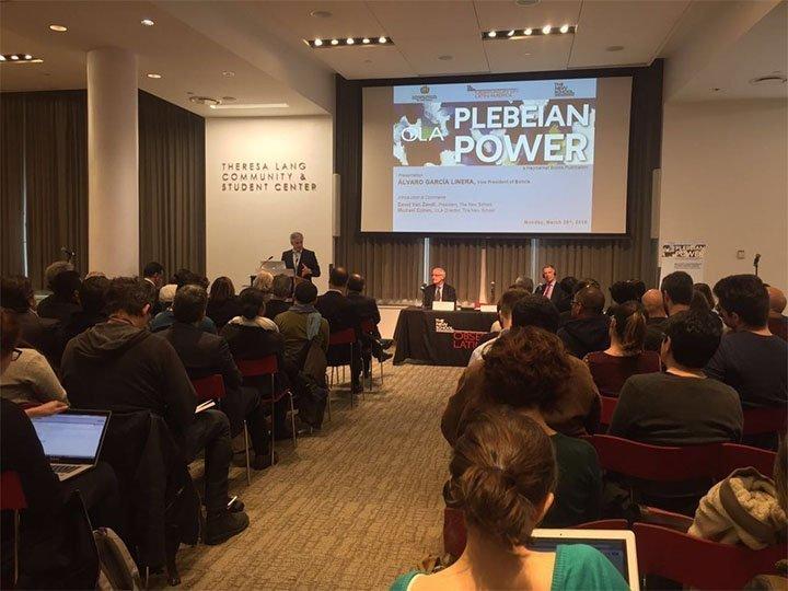 Plebeian Power: una presentación de libro del Vicepresidente de Bolivia Álvaro García Linera