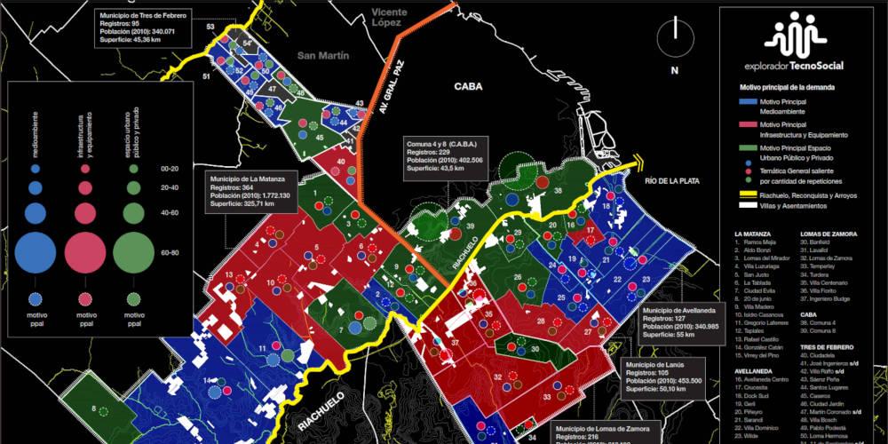 Presentación de investigación · Explorador TecnoSocial: demandas territoriales digitales en Buenos Aires Territorial Demands that Emerge in the Digital Space (Metropolitan Region of Buenos Aires 2000-2015)