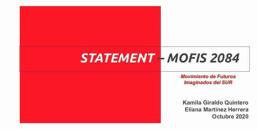 Statement · Declaración